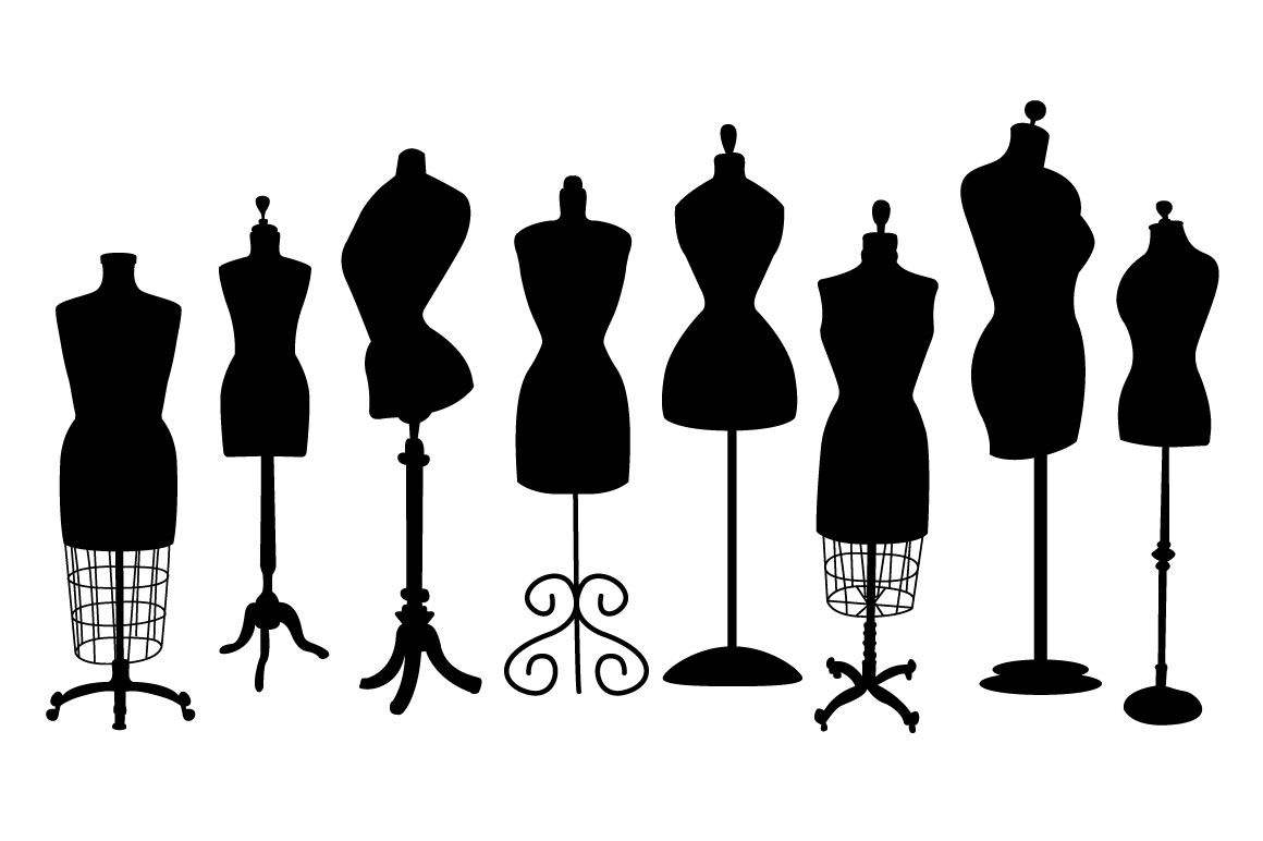 vintage dress form clip art silhouettes dress form and sewing rooms rh pinterest com  dress form mannequin clipart