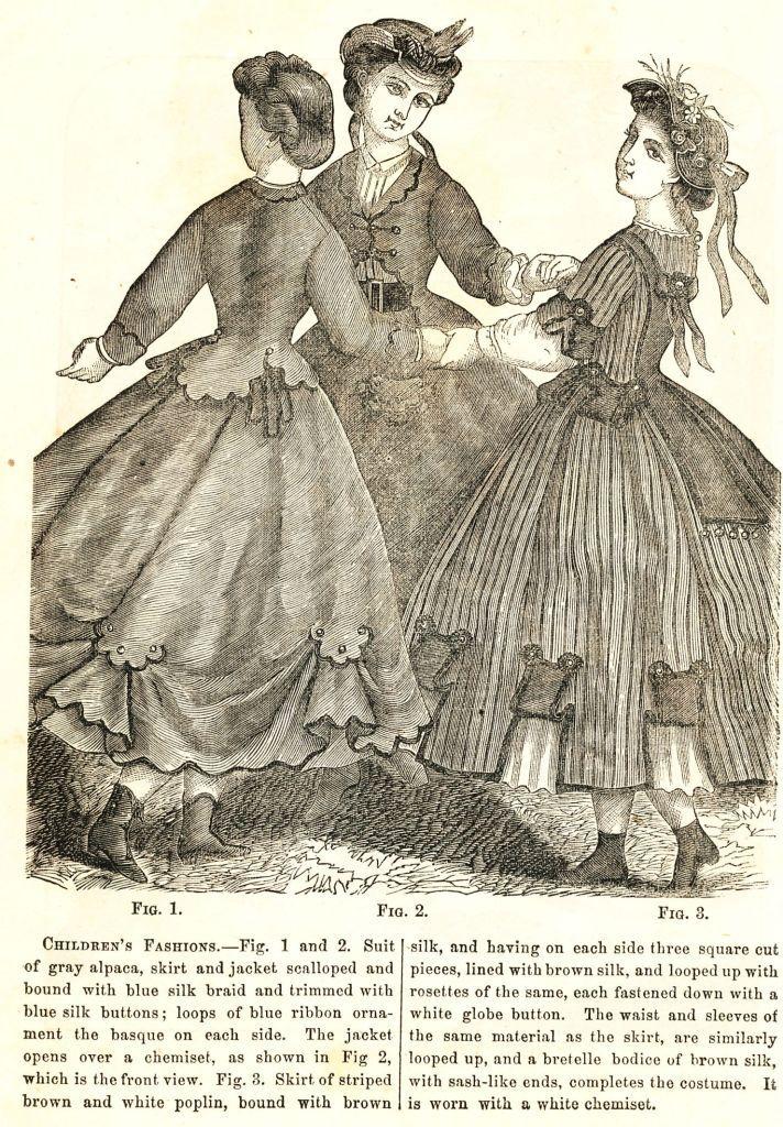 dfeb07369047 Civil War Fashions - Engravings from 1864 Ladies Friend Magazine ...