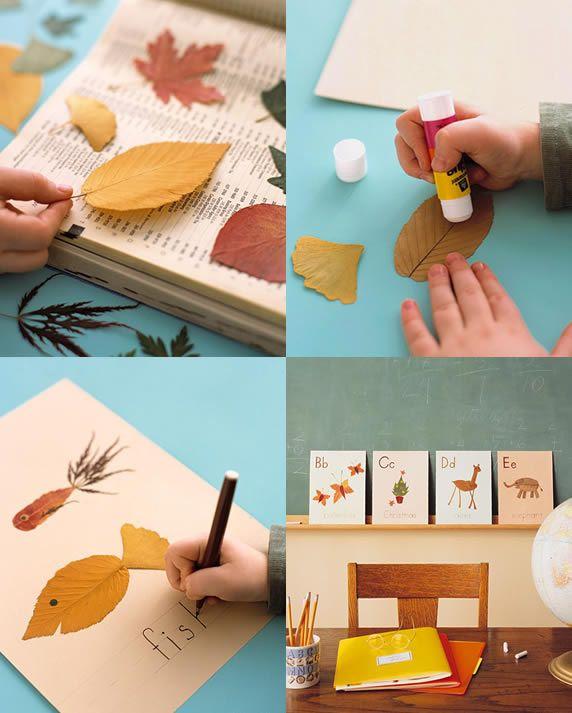 Leaf Alphabet Martha Stewart Autumn Leaves Craft Crafts Kids