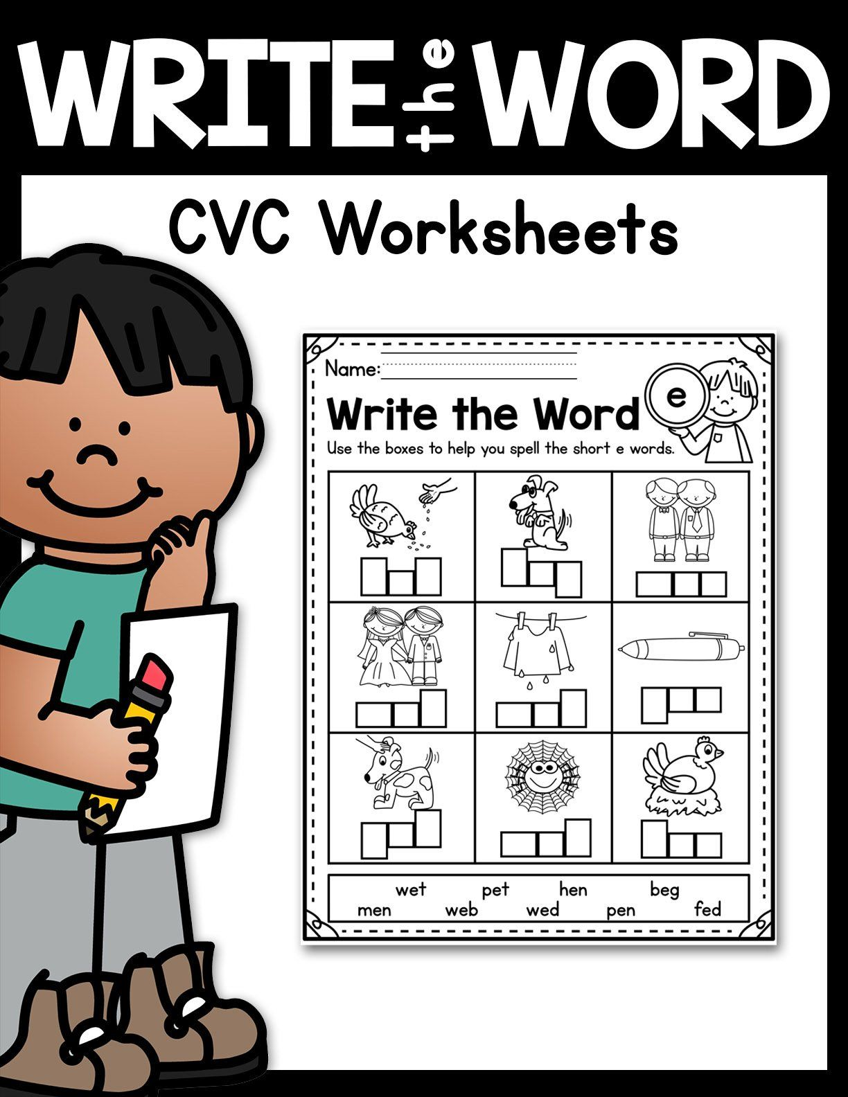 Cvc Worksheets In