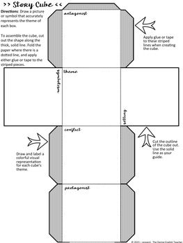 Free Story Cube Project For Any Novel Secondary English Story