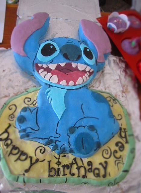 Stitch Birthday Cake | Baking/Desserts | Stitch cake, Birthday cake ...