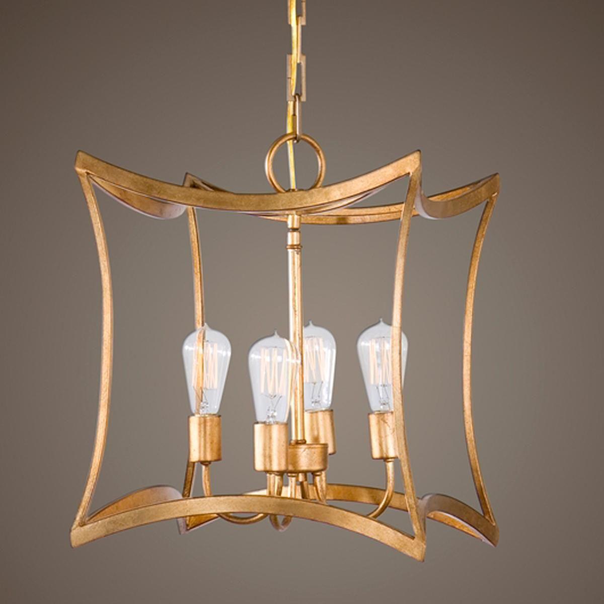 Elegant Gold Leaf Square Lantern Ceiling Pendant Lights Pendant Light Fixtures Lantern Pendant Ceiling pendant light fixtures