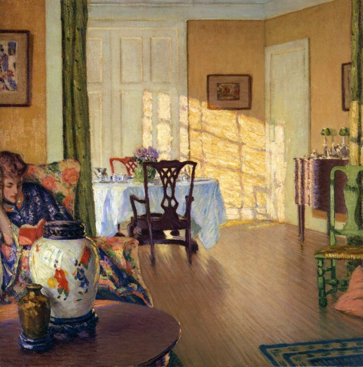 Sunlit Interior William Howe Foote   Circa 1914 Grand Rapids Art Museum  (United States) Painting   Oil On Canvas Height: Cm In.), Width: Cm In.