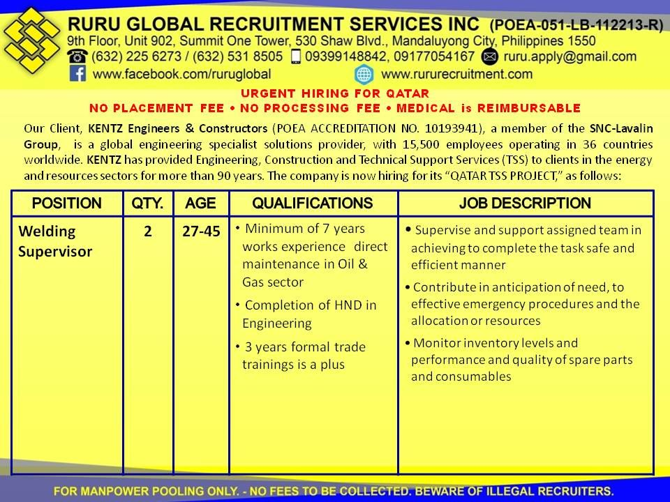 Pin by Ruru Global Recruitment Services, Inc on Job Postings - new aia final completion