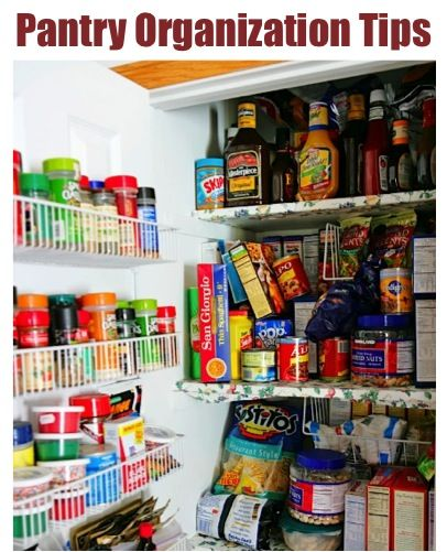 Organized Pantry And Pantry Tips: 12 Ways To Organize Your Pantry! {no More Clutter With