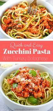 and Easy Turkey Bolognese with Zucchini Pasta  healthy dinner Quick and Easy Turkey Bolognese with Zucchini Pasta  healthy dinner