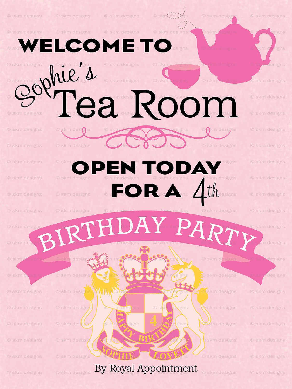 Free Printable Princess Tea Party Invitations | Kalin 5th Birthday ...