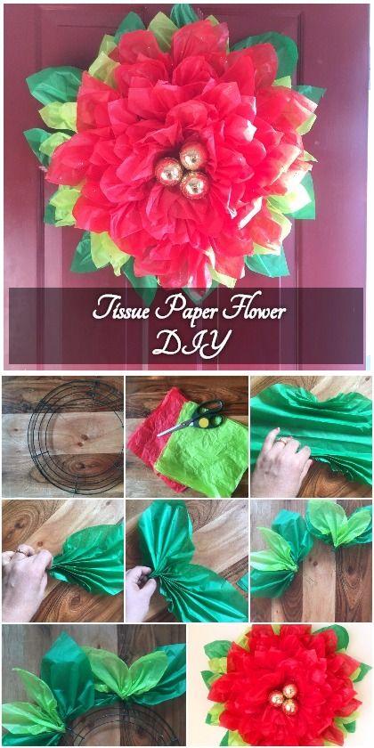 Tissue paper pointsettia paper flower tutorial paper flower tissue paper pointsettia paper flower tutorial mightylinksfo