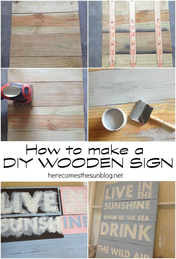 how to make a diy wooden sign street craft and pallets. Black Bedroom Furniture Sets. Home Design Ideas