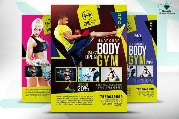 Gym Fitness Flyer Psd  Gym Fitness Psd Templates And Flyer Template