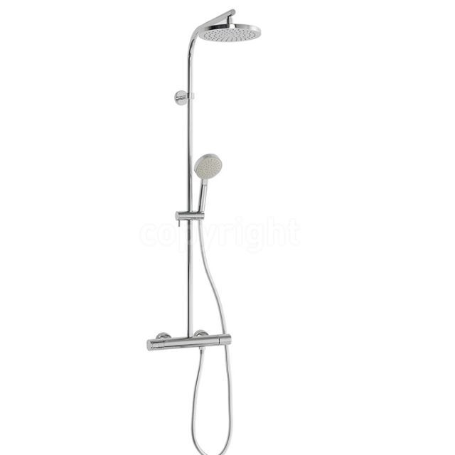 Crosswater Curve Cool Touch Multifunction Shower Valve With Fixed ...