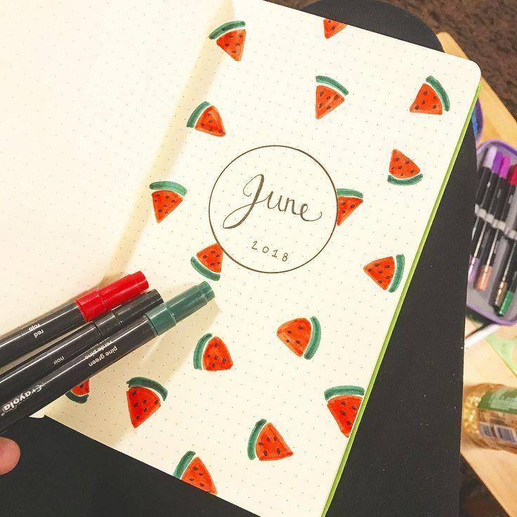 55 Erstaunliche Ideen für die Aufzeichnungen von Wassermelonen #journaling