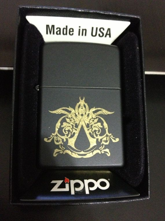 Assassin S Creed Zippo By Cuttingedgeengraving On Etsy 40 00