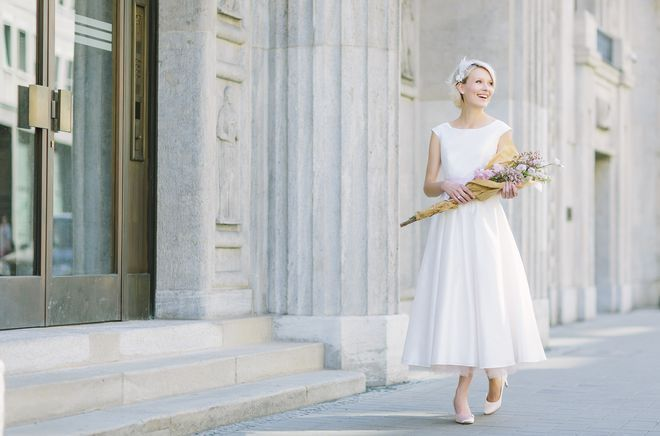 noni noni Brautkleider 2016   Vintage Brautkleid, wadenlang, Hochzeitskleider 50er (Foto: Le Hai Linh)