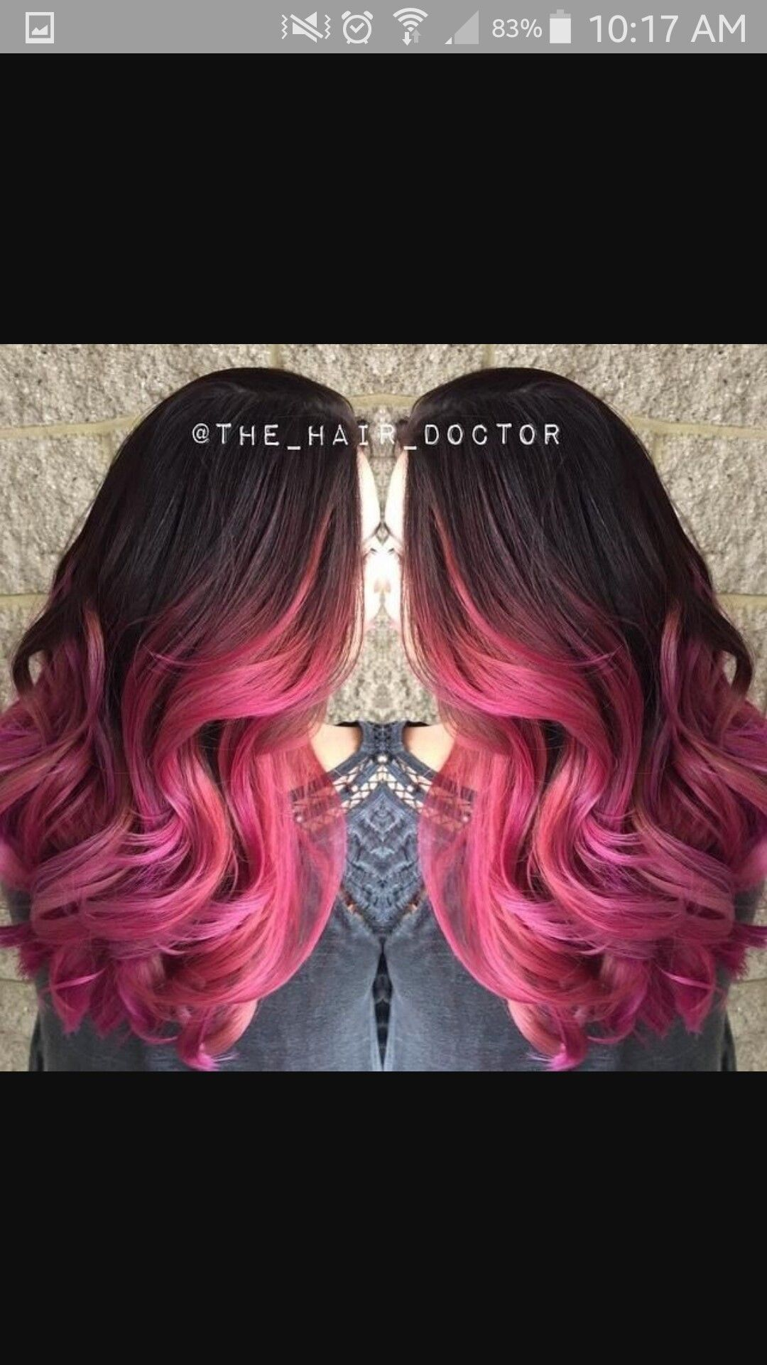 Dark Brown Vibrant Pink Ombre Hair Pinterest Ombre Hair Color