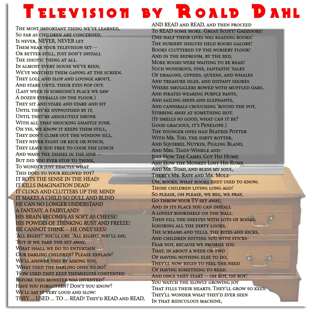Poem Television By Roald Dahl