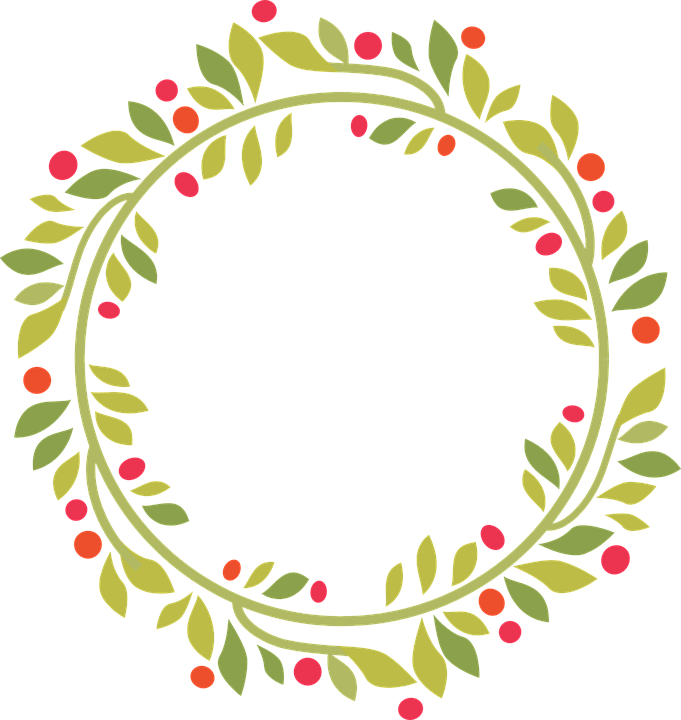 Christmas Wreath Silhouette Free.Pin On Christmas Decorations