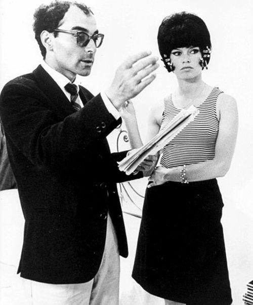 "Jean-Luc Godard and Brigitte Bardot filming ""Le Mépris"" in Italy, 1963"