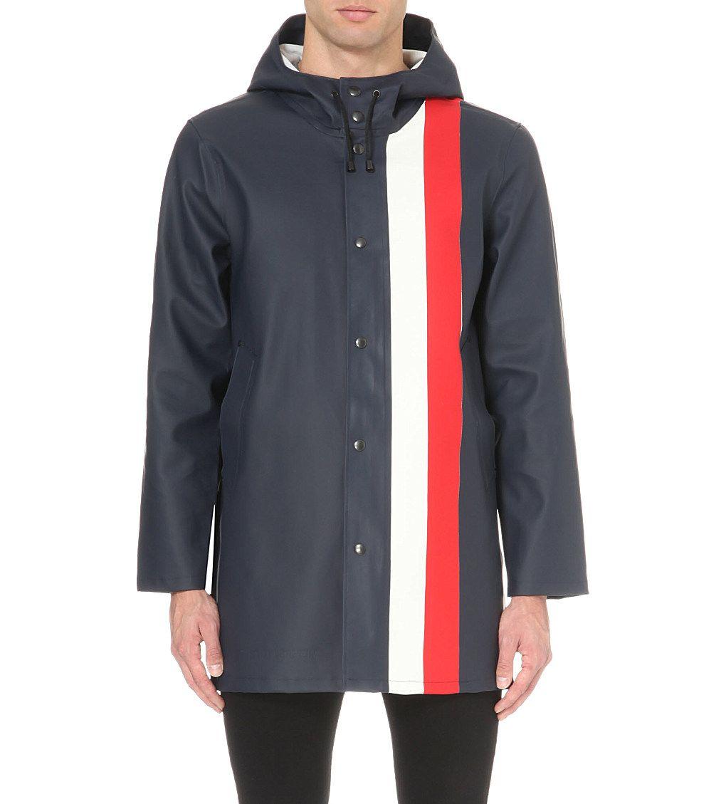 Stockholm striped rain mac | Men's coats & jackets, Rain mac, Coats jackets