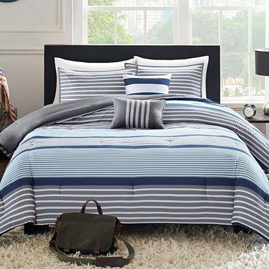 Jcpenney Com Intelligent Design Matteo Striped Comforter Set
