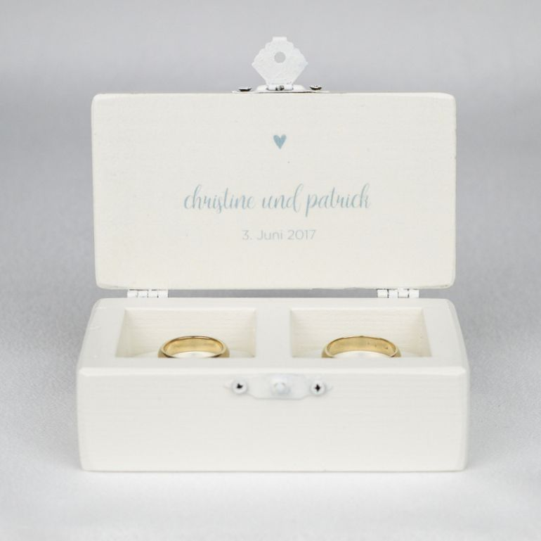 White Double Wedding Ring Box created by Gregolino Simple