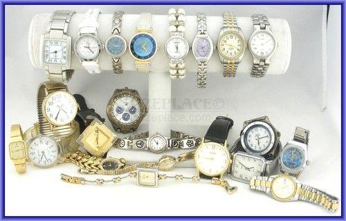 Wholesale lot 20+ Watches Timex Indiglo Citizen Citizen Elgin Seiko Fossil Anne Klein