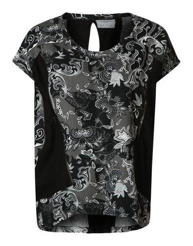 VERO MODA Shirt ´VMPAIS MILA´ schwarz