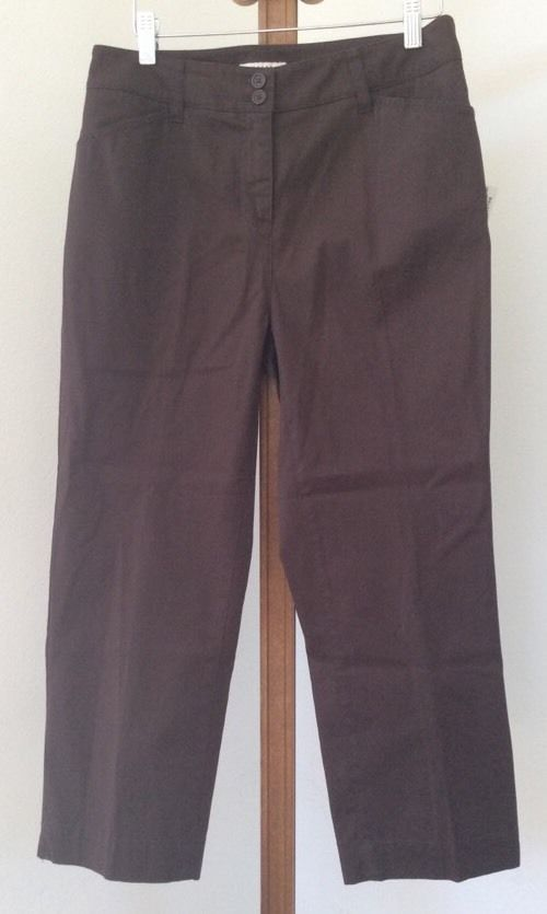 Jones New York Capri Size 6 NEW Pants Brown Capris Womens #JonesNewYork #CaprisCropped