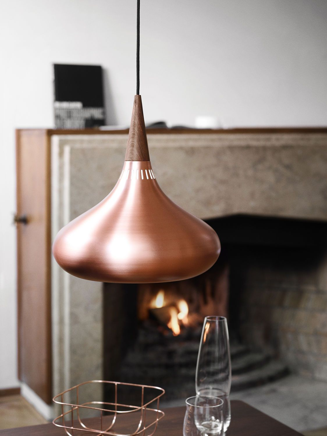 Applique Cuivre Rose Lampe Suspension Contemporaine En Bois De Rose En