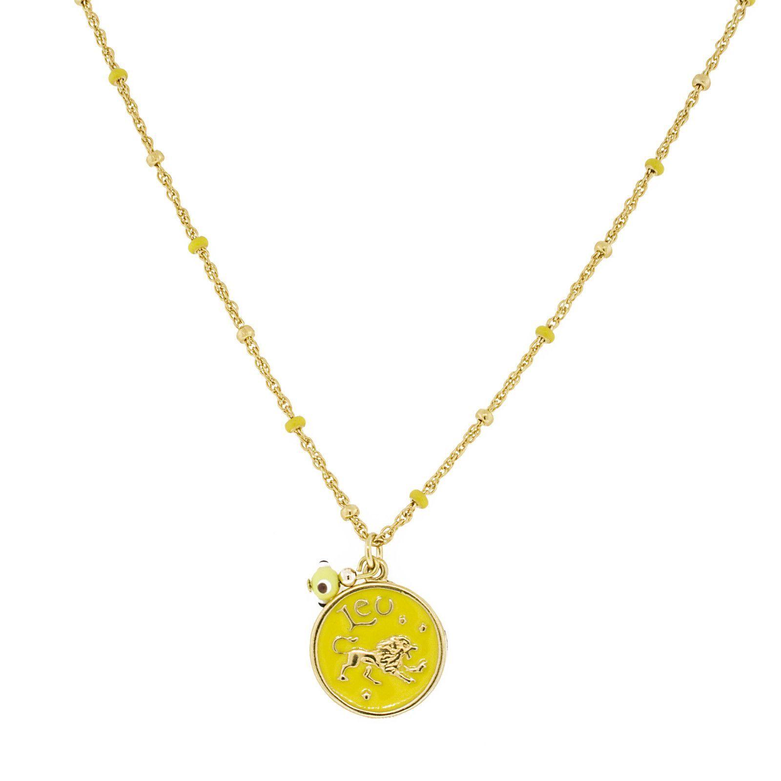 Blee Inara Enamel Horoscope Necklace - Leo