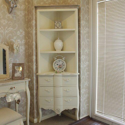 belfort range  cream corner display unit with drawers