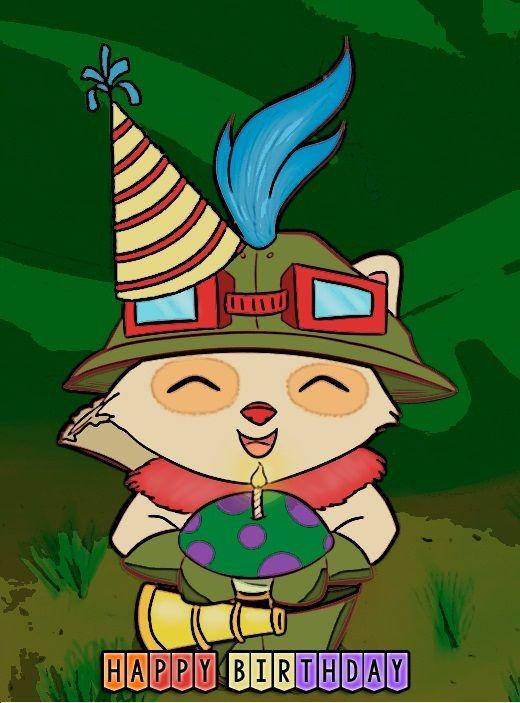 Teemo Happy Birthday Lol Happy Birthday Meme Happy Birthday Happy