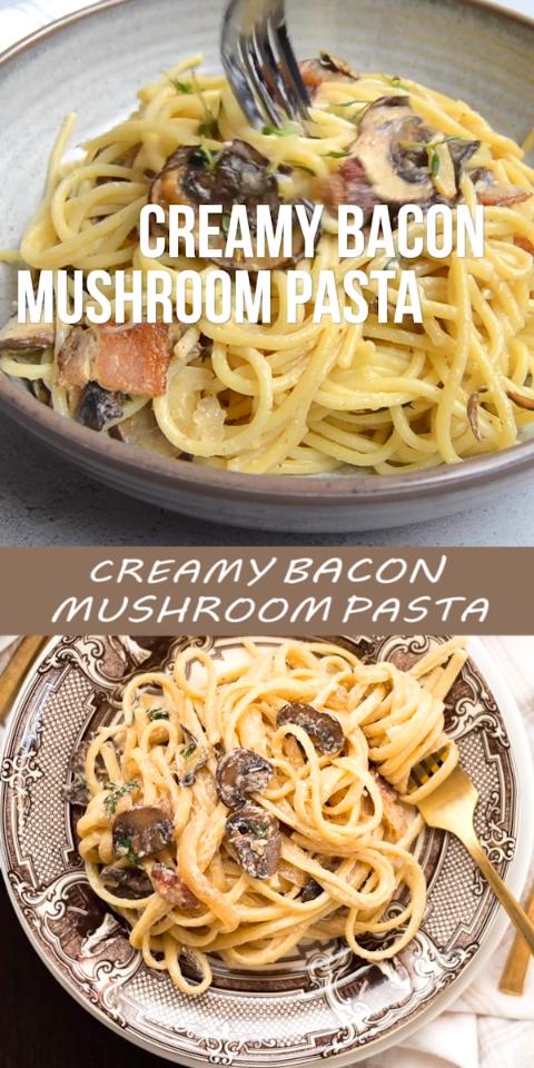 Creamy Bacon Mushroom Pasta images