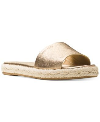 6b8353838651 MICHAEL Michael Kors Dempsey Slide Sandals