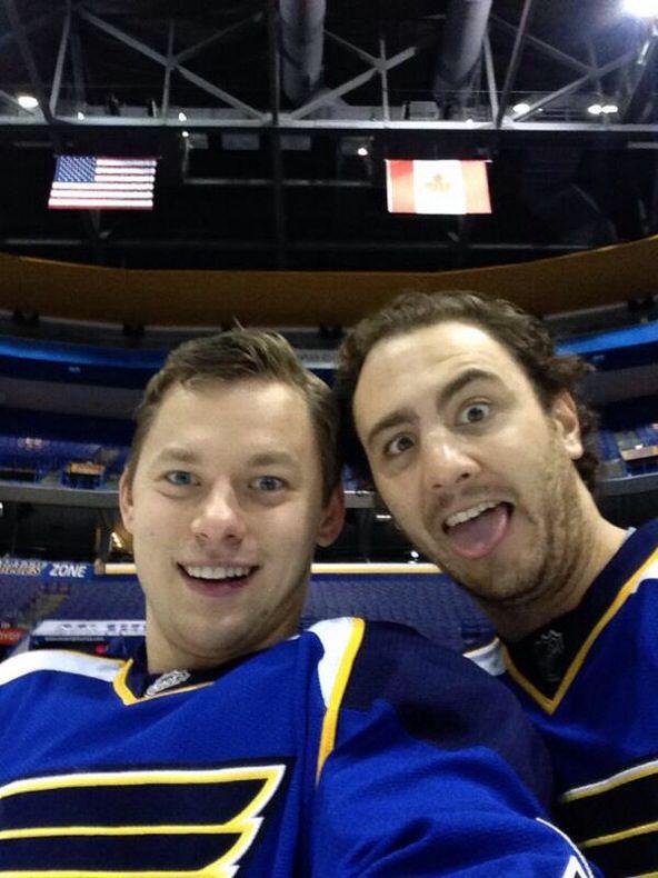 Vladimir Tarasenko: But first, let me take a selfie - Vladimir Tarasenko & Kevin Shattenkirk of the St. Lou...
