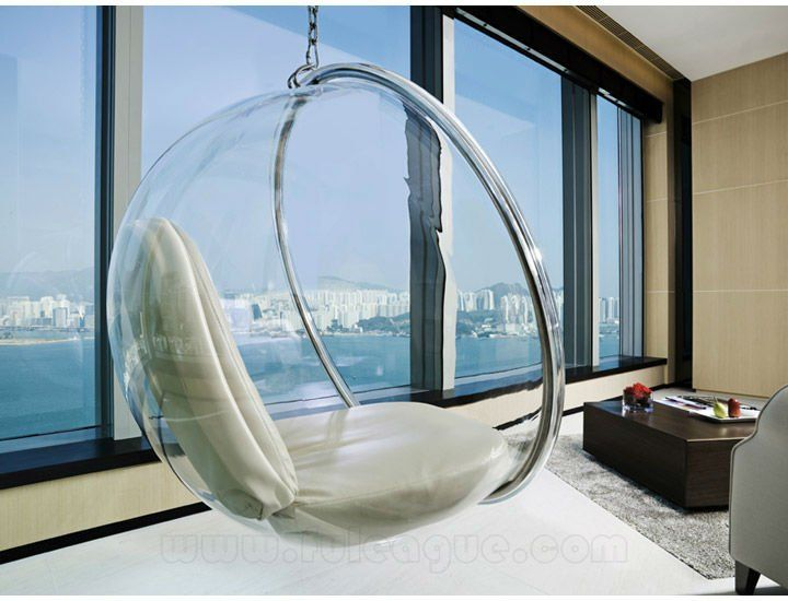 Acrylic Hanging Bubble Chair The Next Must Have Home Accessory Whether It S Actually Comfy Or With Images Bubble Chair Hanging Swing Chair Hanging Swing