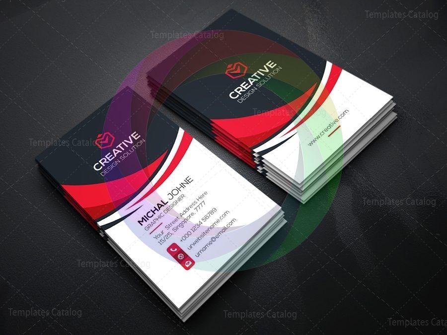 Vertical Technology Business Card Template Graphic Templates Vertical Business Cards Vertical Business Card Template Business Card Template