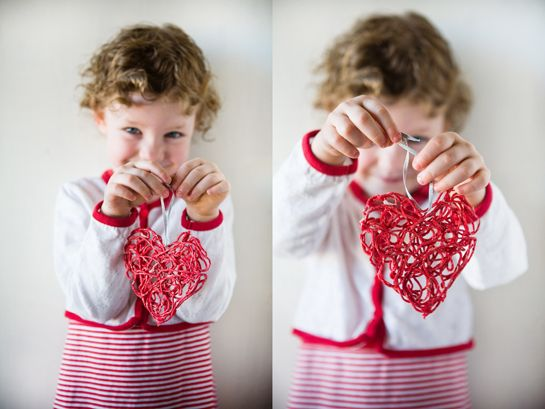 Some the Wiser: Valentine Yarn Ornaments Tutorial