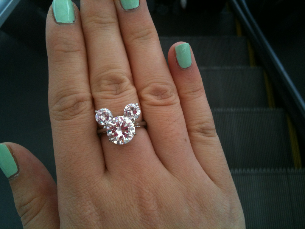 Is It Wrong That I Would So Accept This As An Engagement Ring: Minnie Mouse Wedding Ring At Websimilar.org
