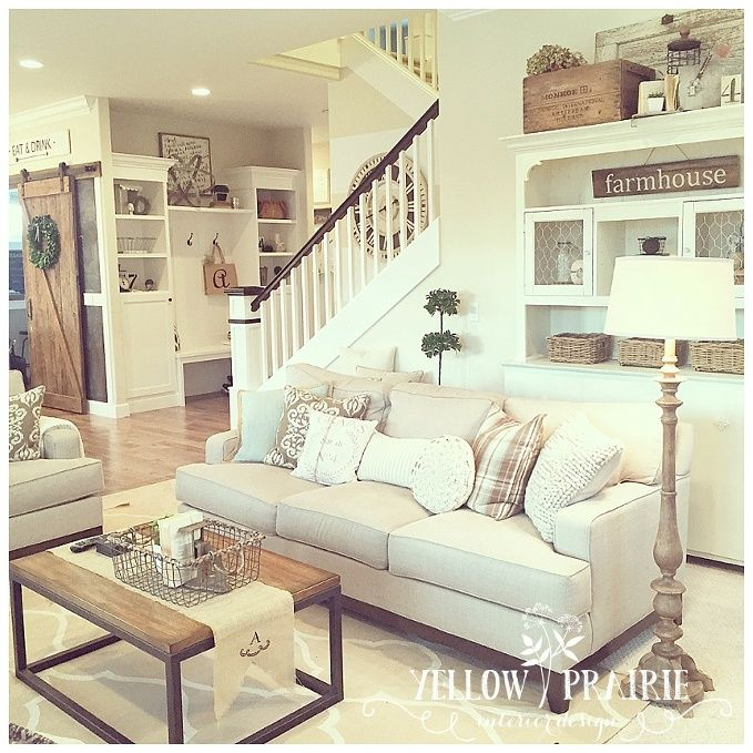 Colorfully Behr Farmhouse Chic: Valspar Coconut Milk Main Level Wall Color