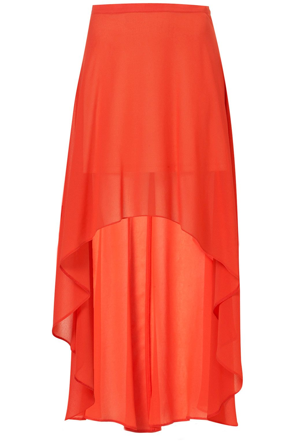 TOPSHOP | RED DIP BACK MAXI SKIRT