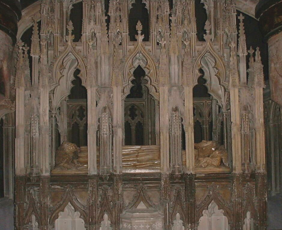 Edward II's tomb at Gloucester Cathedral. 1327