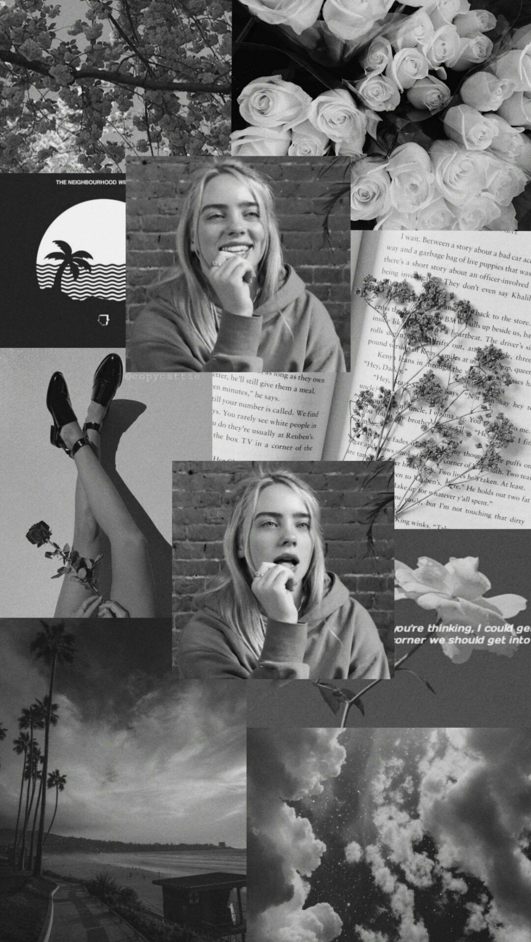 billie eilish lockscreen credit copycattie on twitter