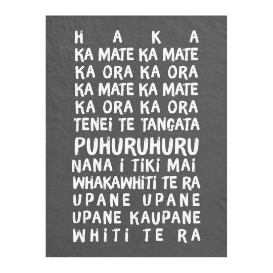 The Haka Rugby Lyrics New Zealand Rugby Fleece Blanket