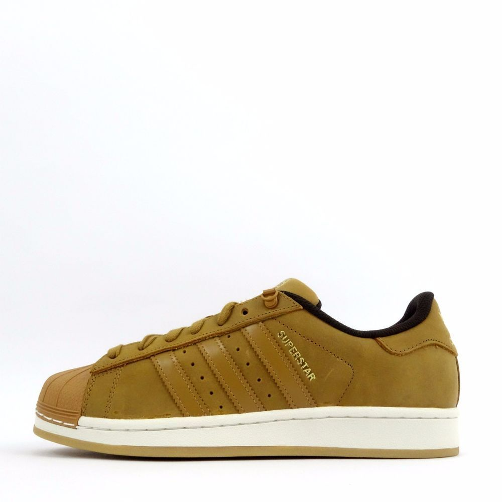 ccd5c6bdfded adidas Originals Superstar Waxy Shell Toe Mens Casual Trainers Shoes Brown Gold   adidasOriginals  CasualTrainersShoesSneakers
