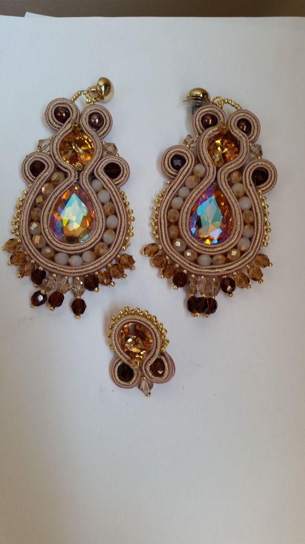 orecchini soutache com swarovski e cristalli : Orecchini di giujoux