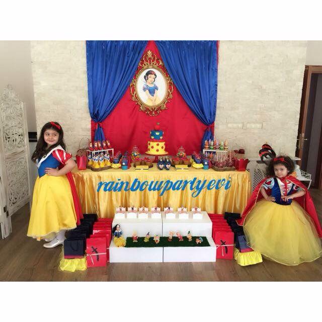 Snow White Birthday Party Pamuk Prenses Ve Yedi Cuceler Dogum Gunu Partisi Rainbowpartyevi Dogum Gunu Dogumgunu Partileri Parti