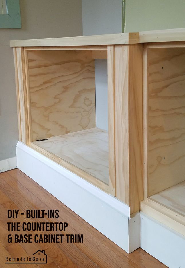 Family Room Built In The Countertop And Base Cabinet