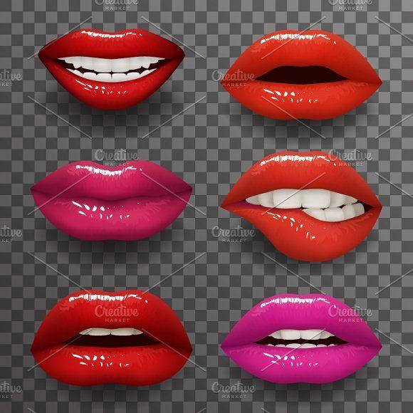 Woman Lips Stylish Slightly By Meilun On Creativemarket